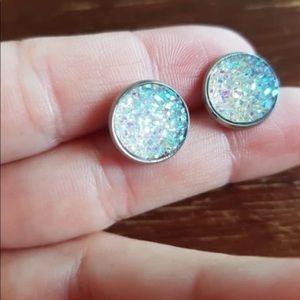 Druzy earrings 2/$15